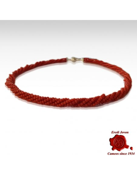 Twisted Red Coral Necklace