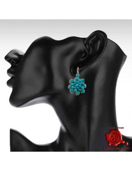 Macrame & Turquoise Earrings