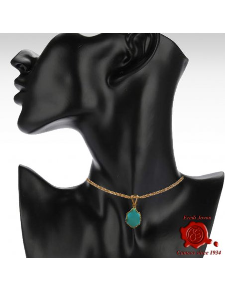 """Turquoise Pendant Gold """"Sparkling"""""""