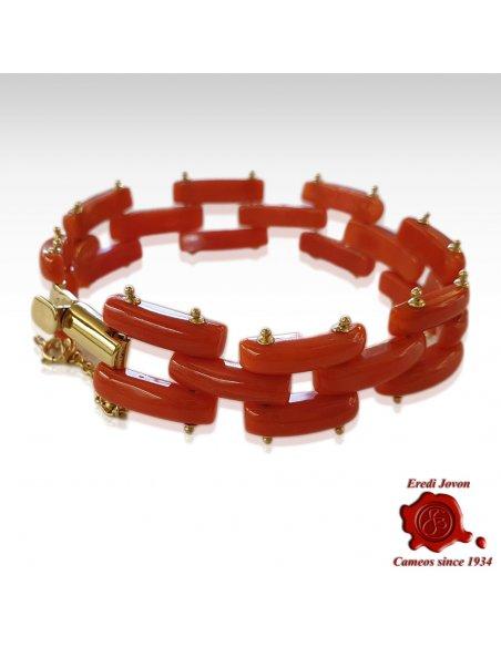 Antique Sciacca Coral Bracelet Gold