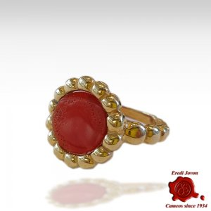 Genuine Red Coral Ring...
