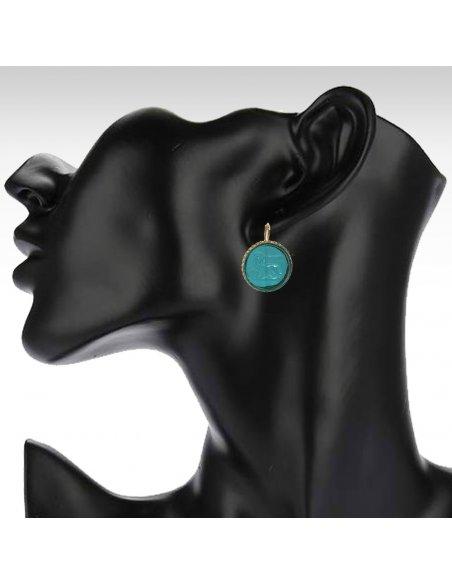 Saint Mark Lion Intaglio Earrings Dangle
