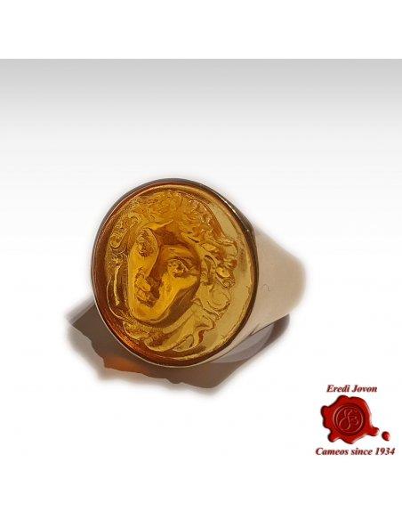 Medusa Intaglio Signet Ring Gold