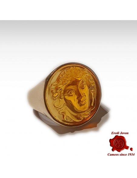 Anello Medusa Intaglio Chevalier Oro