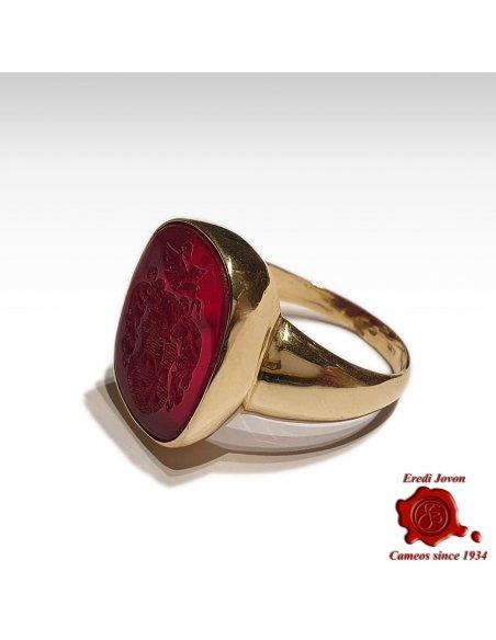 Signet Ring with Intaglio Crest