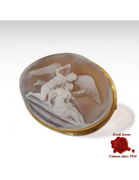 Amor & Psyche Antique Cameo