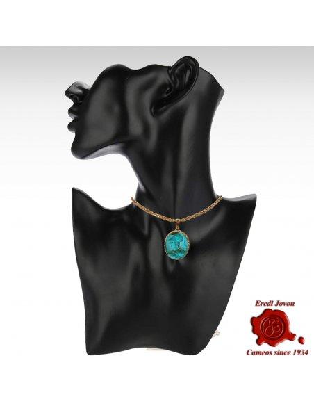 Athena Pendant Intaglio Glass Gold