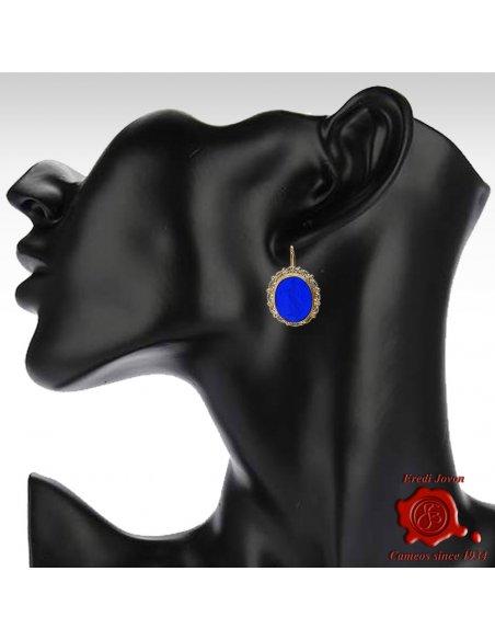 Intaglio Earrings Pandora Box Cameo