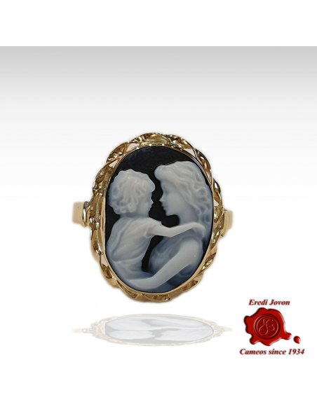 Mother & Child Cameo Ring Gold