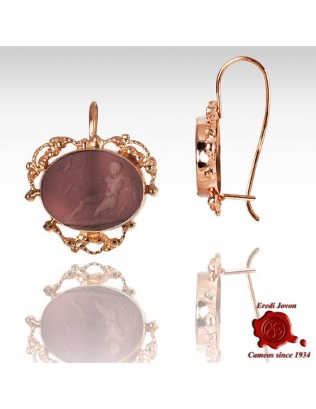 Intaglio Earrings Filigree Gold Set