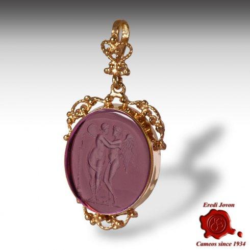 Gold Filigree Pendant with Original Intaglio
