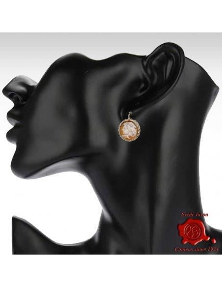 Medusa Cameo Earrings in Silver