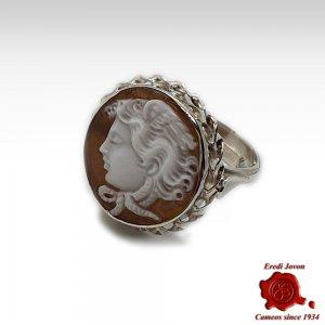 Medusa Silver Cameo Ring