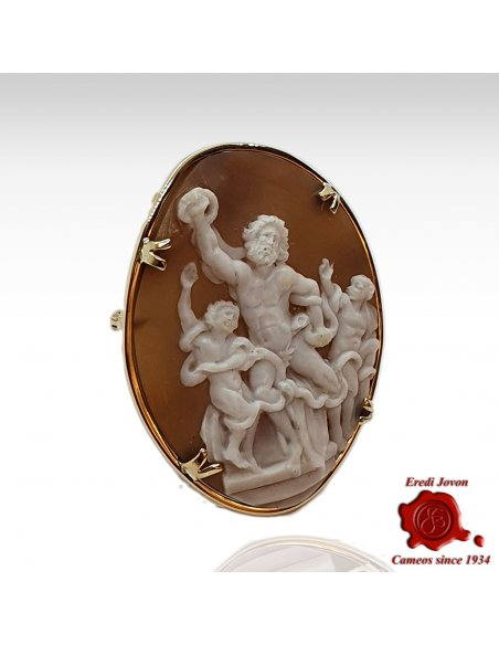 Laocoön Shell Cameo Hand Carved