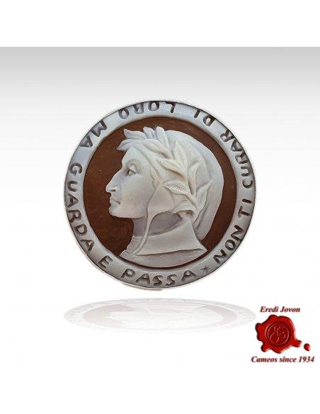 Dante Cameo Brooch & Pendant in Silver