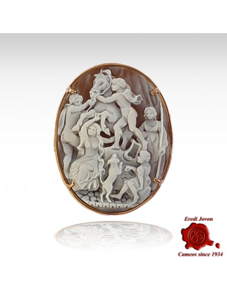 Farnese Bull Cameo Hand carved