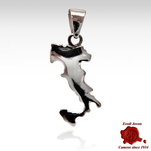 Italy Boot Charm Silver