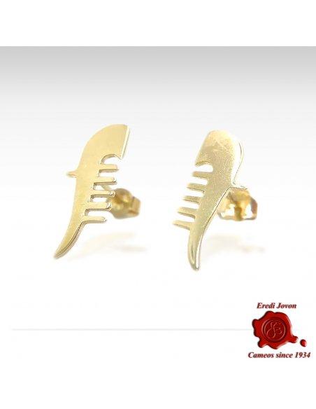 Orecchini Ferro di Gondola in Oro Giallo
