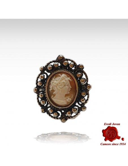 Antique cameo silver ring