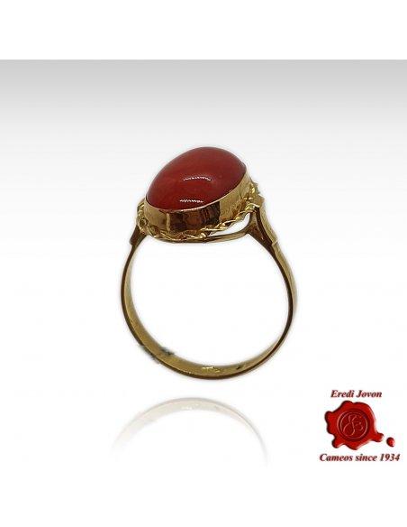 Anello Oro Corallo Rosso