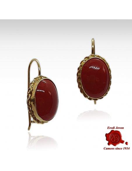 Orecchino Corallo Rosso Monachella