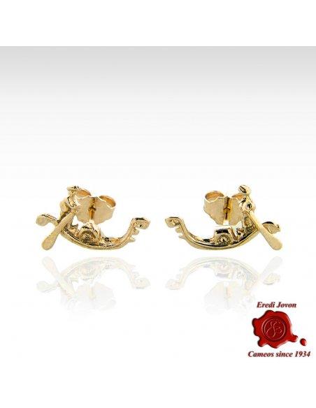 Gondola Earrings Gold