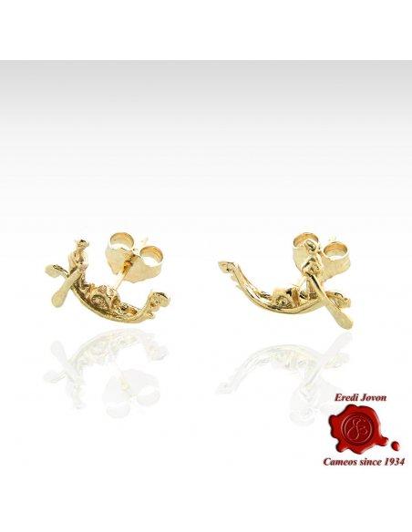 Venetian Gondola Earrings Gold