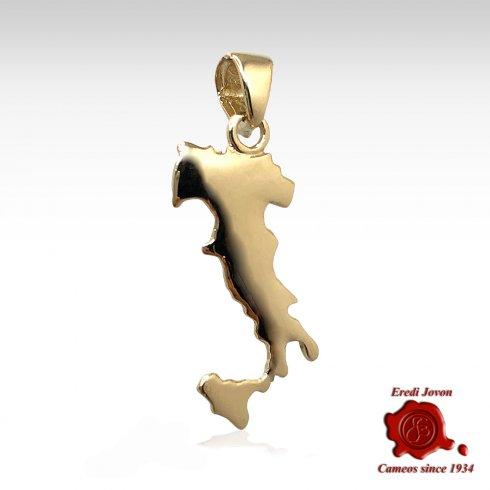 Charm Stivale Italia Oro Giallo