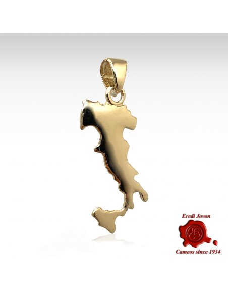 Italy Map Charm Gold