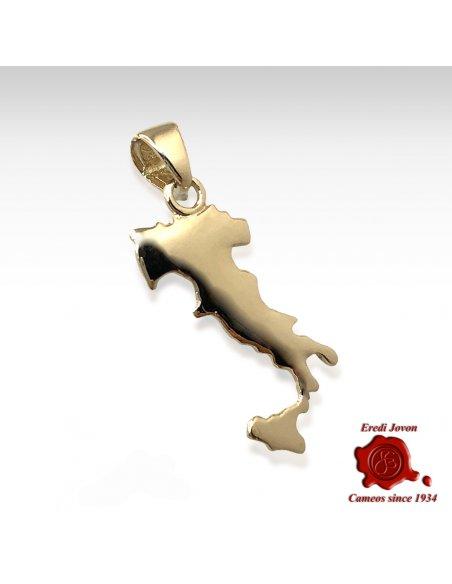 Charm Mappa Italia Oro Giallo