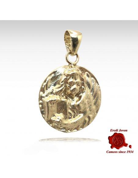 Leone In Moeca Veneziana Charm in Oro Giallo