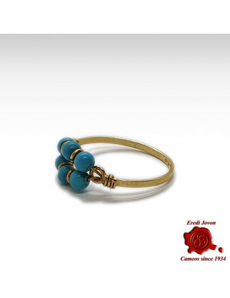 Vintage Turquoise Pinky Ring