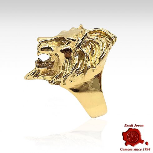 Venice Winged Lion Gold Ring