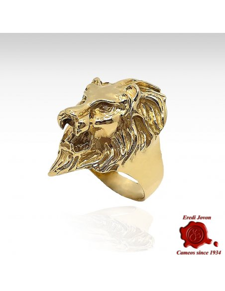 Venice Lion Gold Ring