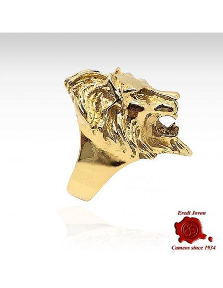 Anello Leone Venezia Oro