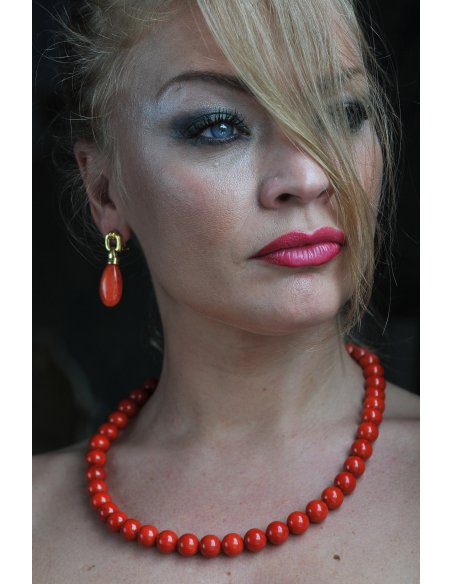 Red Italian Coral Beads Chain