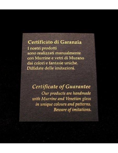 Murano Glass Guarantee Certificate