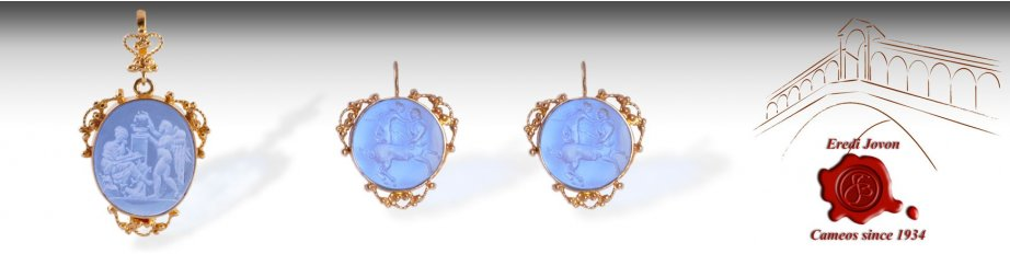 Intaglio Jewelry Venetian Glass Cameos For Sale
