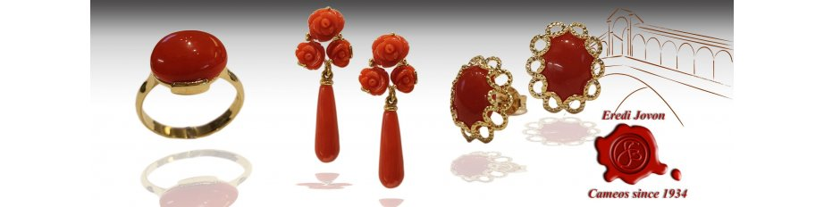 Coral Jewelry Gold: Necklaces, Rings, Earrings, Bracelets
