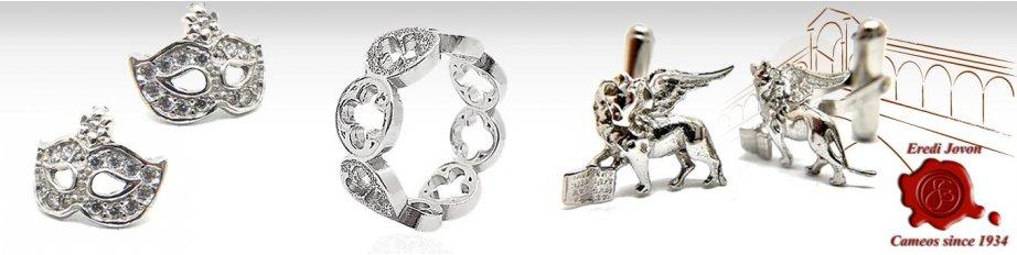 Charms Venetian Jewelry in Silver