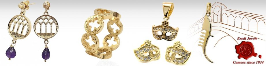 Gold Venetian Charms Jewelry and Pendants