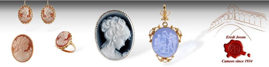 Italian Cameos Jewelry Brooch Pendant Ring Earring Sale