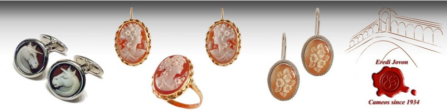 Italian Shell Cameo Jewelry Rings Earrings from Italy